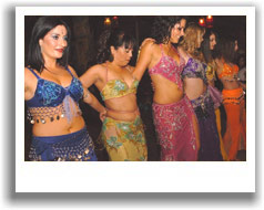 Students at one of our bellydance classes